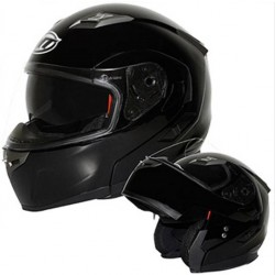 Casque moto modulable MT Noir brillant CASQUES
