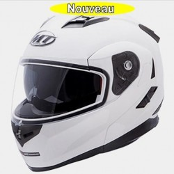 Casque moto modulable MT Blanc brillant CASQUES